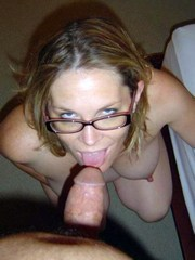 Pregnant wife poses naked and sucks cock