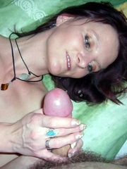 Busty ukranian wife shows her oral..
