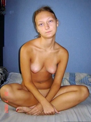 The russian girlfriend blasted with cum..