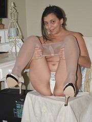 Funny mature in stockings