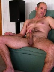 Older men naked with dick in hand